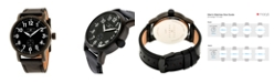 American Exchange Joseph Abboud Men's Analog Leather Watch