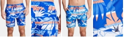 "Nautica Nautica Men's Blue Sail Palm Quick Dry 8"" Swim Trunks, Created for Macy's"