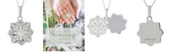 With You Lockets Paloma Diamond (1/6 ct. t.w.) Photo Locket Necklace in Sterling Silver
