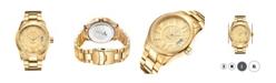 Jbw Men's Bond Diamond (1/10 ct.t.w.) 18k Gold Plated Stainless Steel Watch