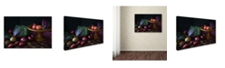 "Trademark Global Jacqueline Hammer 'Still Life In Purple' Canvas Art - 24"" x 16"" x 2"""