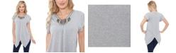 White Mark Women's Fenella Embellished Tunic top