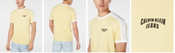 Calvin Klein Jeans Men's Mesh Pieced Logo Graphic T-Shirt