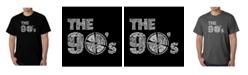 LA Pop Art Mens Word Art T-Shirt - The 90's