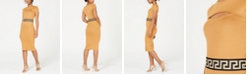 Planet Gold Juniors' Cutout Ribbed-Knit Midi Dress