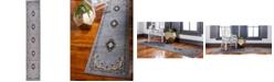 """Bridgeport Home Birsu Bir1 Gray 3' x 16' 5"""" Runner Area Rug"""