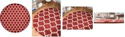 """Bridgeport Home Arbor Arb1 Red 12' 2"""" x 12' 2"""" Round Area Rug"""