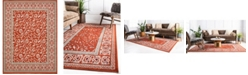 Bridgeport Home Pashio Pas3 Rust Red 9' x 12' Area Rug