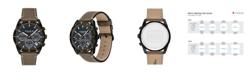 COACH Men's Thompson Sport Leather Strap Watch, 41M