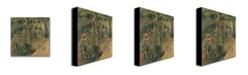 "Trademark Global Camille Pissarro 'The Apple Pickers' Canvas Art - 18"" x 18"""