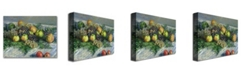 """Trademark Global Claude Monet 'Still Life with Pears and Grapes' Canvas Art - 24"""" x 18"""""""