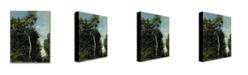 "Trademark Global Jean Baptiste Corot 'The Wood on the Cote de Grace' Canvas Art - 47"" x 35"""
