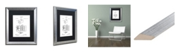 """Trademark Global Claire Doherty 'George Eastman Camera Patent White' Matted Framed Art - 16"""" x 20"""""""