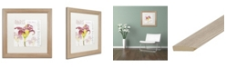 "Trademark Global Jennifer Redstreake 'Paris Botanique Lily Burgundy' Matted Framed Art - 16"" x 16"""