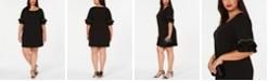 Robbie Bee Plus Size Ruffle-Sleeve Sheath Dress