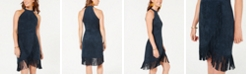 Rosie Harlow Juniors' Faux-Suede Fringe Dress, Created for Macy's
