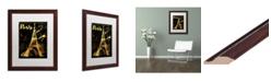 "Trademark Global Color Bakery 'Gold Eiffel' Matted Framed Art - 16"" x 20"""