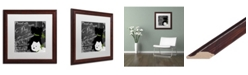 """Trademark Global Color Bakery 'Travel With Your Dog' Matted Framed Art - 16"""" x 16"""""""