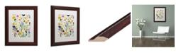 """Trademark Global Carrie Schmitt 'Songs of Joy' Matted Framed Art - 11"""" x 14"""""""