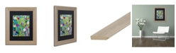 """Trademark Global Carrie Schmitt 'Verdant' Matted Framed Art - 11"""" x 14"""""""