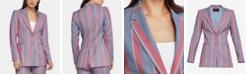 BCBGMAXAZRIA Striped Single-Breasted Blazer