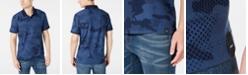 DKNY Men's Stretch Performance Camo-Print Piqué Polo Shirt