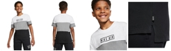 Nike Big Boys Air Top Colorblock Short Sleeve Shirt