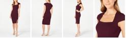 Calvin Klein Petite Cap-Sleeve Sheath Dress