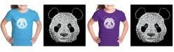 LA Pop Art Girl's Word Art T-Shirt - Panda