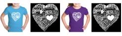 LA Pop Art Girl's Word Art T-Shirt - Love In 44 Different Languages