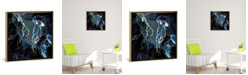"""iCanvas Metallic Ocean Iii by Spacefrog Designs Gallery-Wrapped Canvas Print - 37"""" x 37"""" x 0.75"""""""