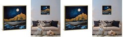 """iCanvas Midnight Desert by Spacefrog Designs Gallery-Wrapped Canvas Print - 18"""" x 18"""" x 0.75"""""""