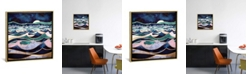 "iCanvas Moonlit Ocean by Spacefrog Designs Gallery-Wrapped Canvas Print - 26"" x 26"" x 0.75"""
