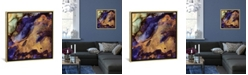 """iCanvas Purple and Gold Abstract by Spacefrog Designs Gallery-Wrapped Canvas Print - 18"""" x 18"""" x 0.75"""""""
