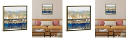 """iCanvas Gradations in Blue and Gold by Rachel Springer Gallery-Wrapped Canvas Print - 26"""" x 26"""" x 0.75"""""""