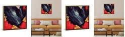 """iCanvas Scarlet Abstract by Spacefrog Designs Gallery-Wrapped Canvas Print - 26"""" x 26"""" x 0.75"""""""