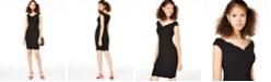 Emerald Sundae Juniors' Off-The-Shoulder Bodycon Dress