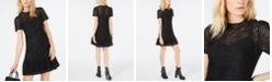 Michael Kors Ruffle-Hem Lace Dress