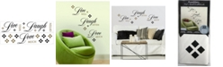 York Wallcoverings Live Love Laugh Peel and Stick Wall Decals
