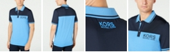 Michael Kors Men's Performance Stretch Sport Colorblock Logo Polo Shirt, Created for Macy's