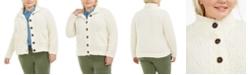 Planet Gold Trendy Plus Size Button-Down Fleece Jacket