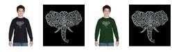 LA Pop Art Boy's Word Art Long Sleeve T-Shirt - Tusks