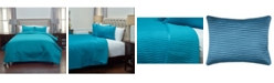 Rizzy Home Riztex USA Parker Teal King 3 Piece Quilt Set