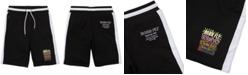 "Born Fly Men's Big & Tall Colorblocked Graffiti 13"" Shorts"