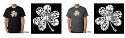 LA Pop Art Men's Word Art T-Shirt - Kiss Me I'M Irish