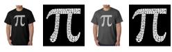 LA Pop Art Men's Word Art T-Shirt - 100 Digits of Pi