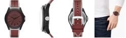 A X Armani Exchange Men's Drexler Burgundy Polyurethane Strap Watch 44mm