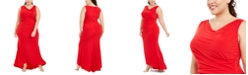 Calvin Klein Plus Size Draped Cowlneck Gown
