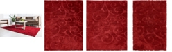 Bridgeport Home Malloway Shag Mal1 Red Area Rug Collection