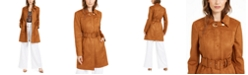 INC International Concepts I.N.C. Faux-Suede Trench Coat & Belted Wide-Leg Pants, Created For Macy's